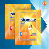 Nicorette Quit Smoking Aid 2mg. or 4mg., Fruit Chill Gum 200 Pieces
