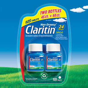 Claritin 10 mg. Non-Drowsy 24 Hour, 105 Tablets