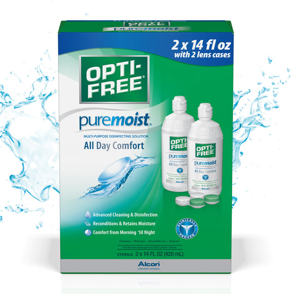 OPTI-FREE PureMoist Multi-Purpose Solution, 28 Ounces