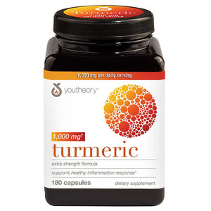youtheory Turmeric 1,000 mg., 180 Capsules