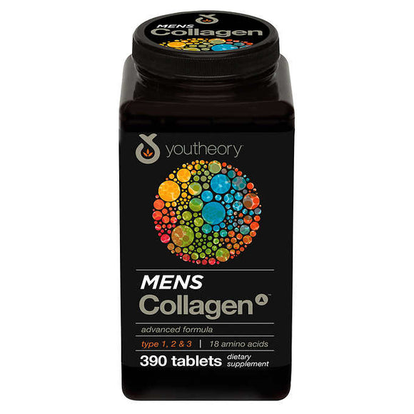 youtheory Mens Collagen Advanced Formula, 390 Tablets