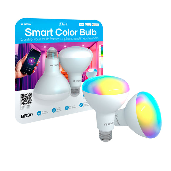 Atomi Smart Color 60W Bulb 2-pack BR30