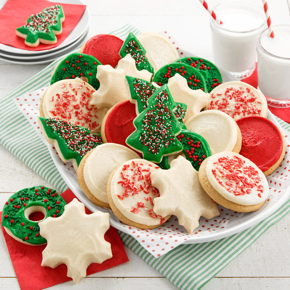 Mrs. Fields 24 Frosted Holiday Cookies