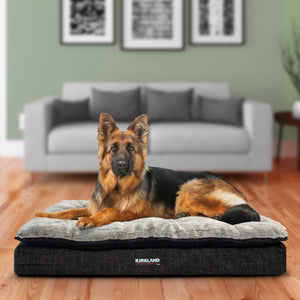 "Kirkland Signature 36"" x 40"" Pillow Top Orthopedic Dog Bed, Black"