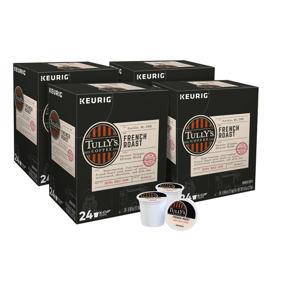 Tully's French Roast Coffee K-Cup Pods 96-count