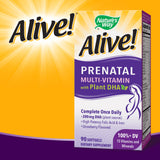 Alive! Prenatal Multi-Vitamin with Plant DHA, 90 Softgels