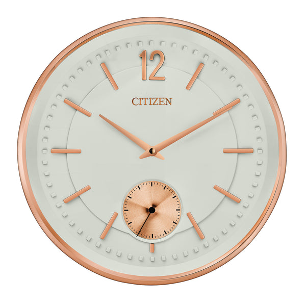 "Citizen 13"" Rose Wall Clock with Ivory Dials"