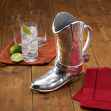 Wilton Armetale Cowboy Boot Beverage Pitcher