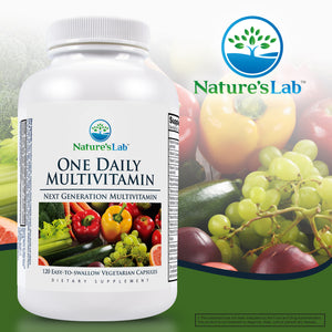 Nature's Lab One Daily Multivitamin, 120 Vegetarian Capsules