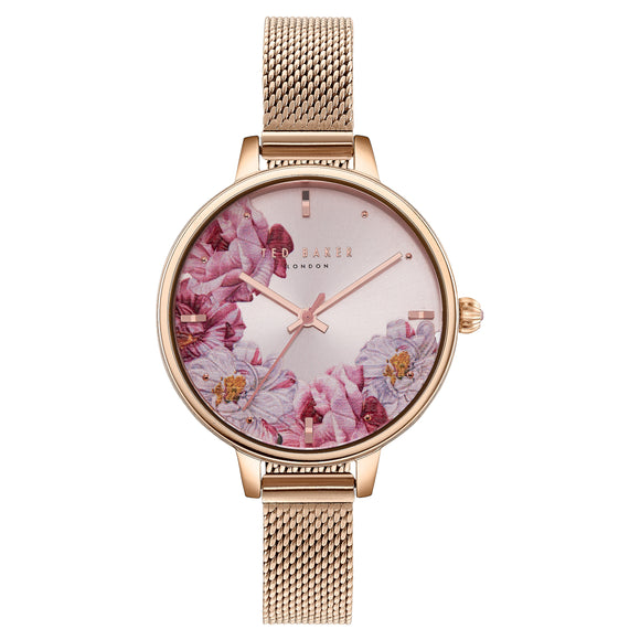 Ted Baker Rose Gold Tone Ladies Watch Set