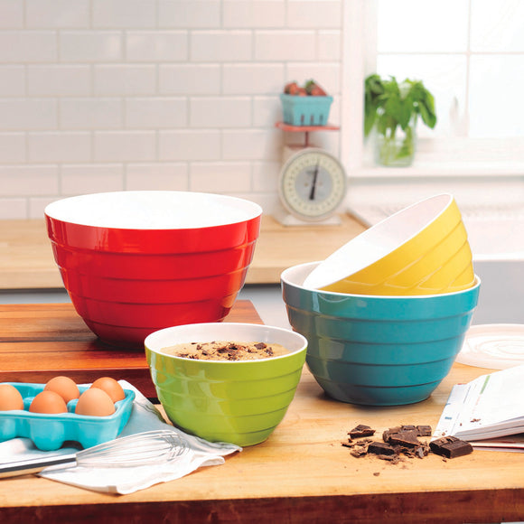 Pandex 4-piece Melamine Mixing Bowls with Lids