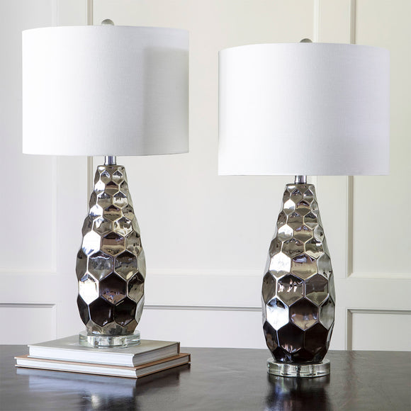 J. Hunt Pensacola Chrome Finish Table Lamp, 2-pack