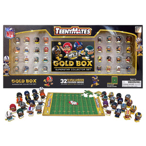 NFL TeenyMates Gold Box Superstar Collector Set