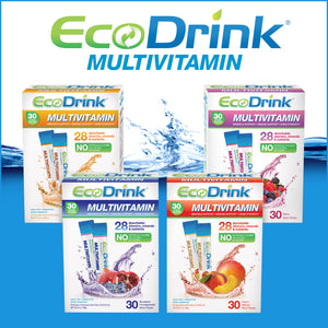 EcoDrink Complete Multivitamin Drink Mix, 30 Packets