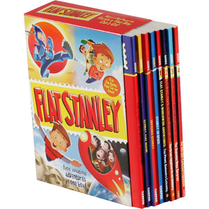 Flat Stanley Collection: 8 Book Box Set by Jeff Brown