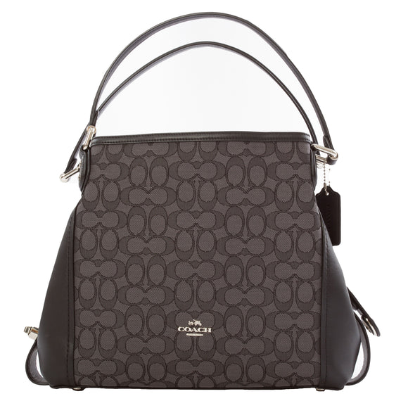 Coach Edie Signature Jacquard 31 Tote Bag, Gray
