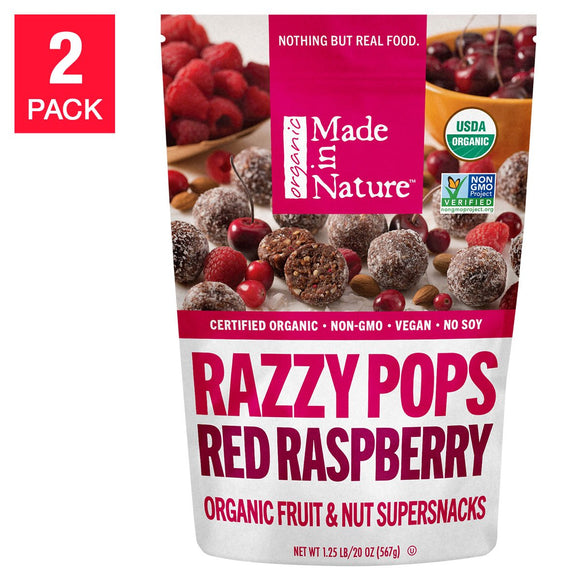 Made in Nature Organic Razzy Pops, 20 oz, 2-count