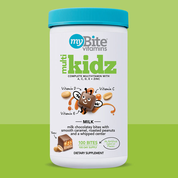 MyBite Kidz Chewable Multivitamin, 100 Milk Chocolatey Bites