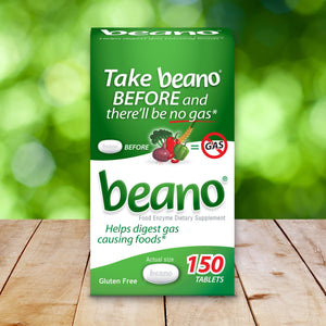 Beano Food Enzyme Dietary Supplement, 150 Tablets