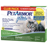 PetArmor Plus Flea, Tick and Lice Formula For Cats, 12 Month Application