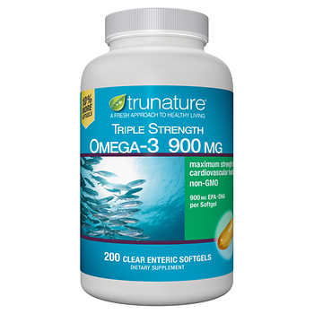 trunature Triple Strength Omega-3 900 mg., 200 Softgels