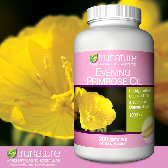 trunature Evening Primrose Oil 1000 mg., 200 Softgels