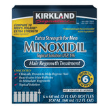 Kirkland Signature Hair Regrowth Treatment Extra Strength for Men, 5% Minoxidil Topical Solution, 2 fl. oz, 6-pack