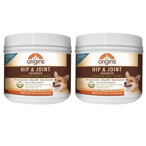 Pet Origins Advanced Vet Strength Hip & Joint Soft Chews for SM/MD Dogs, 140-count, 2-pack