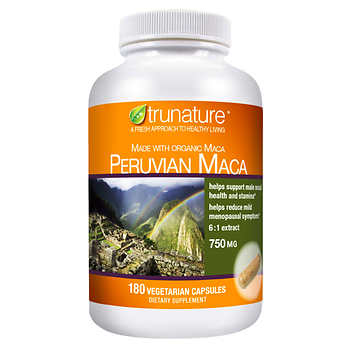 trunature Peruvian Maca 750 mg., 180 Vegetarian Capsules