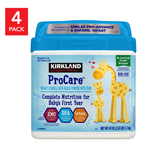 Kirkland Signature ProCare Infant  Formula 42 oz, 4-pack