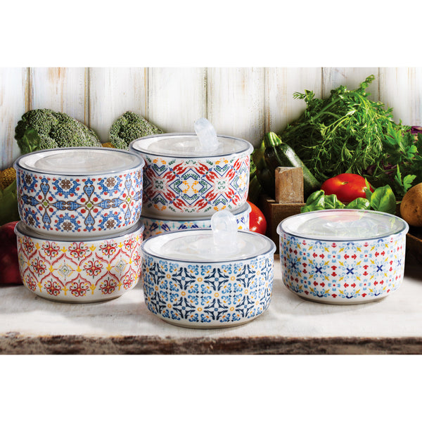 Signature Housewares 6-piece Stoneware Storage Bowls