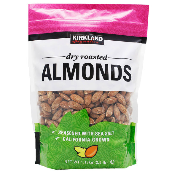 2 Pack Kirkland Signature Dry Roasted Almonds, 40 oz. Each