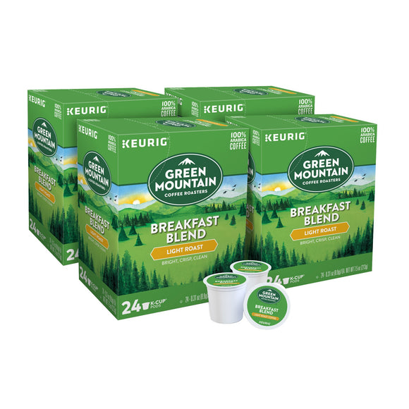 Green Mountain Coffee Breakfast Blend, Keurig K-Cup Pods 96-count