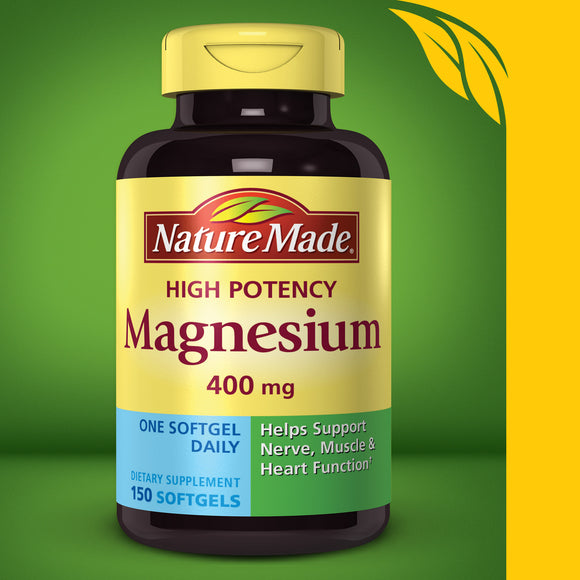 Nature Made Magnesium 400 mg., 150 Softgels