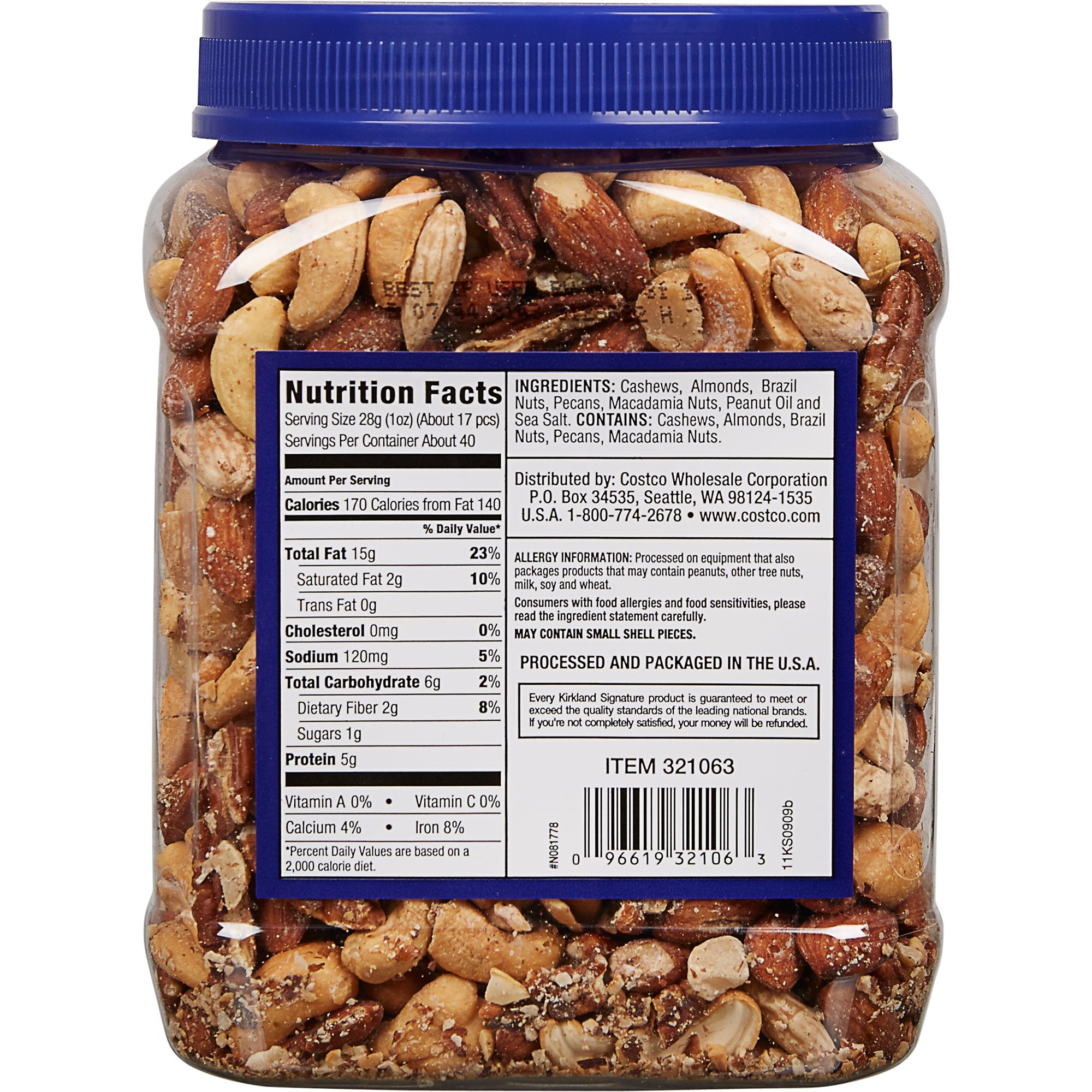 2 Pack Kirkland Signature Extra Fancy Mixed Nuts, 40 oz  Each