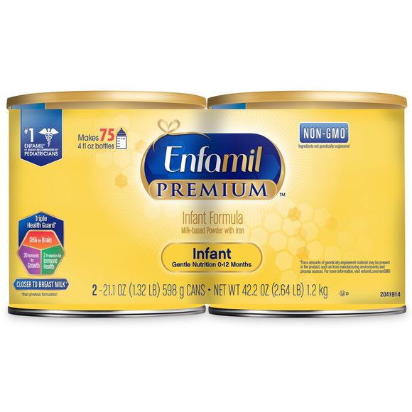 Enfamil Premium Infant Formula 21.1 oz, 2-count