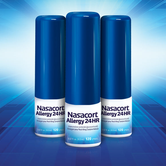 Nasacort Allergy 24HR, 3 Bottles