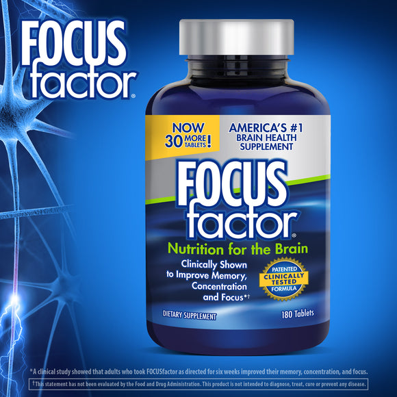 FOCUSfactor Dietary Supplement, 180 Tablets