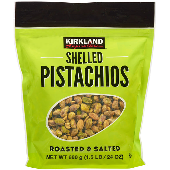 2 Pack Kirkland Signature Shelled Pistachios, 24 oz. Each