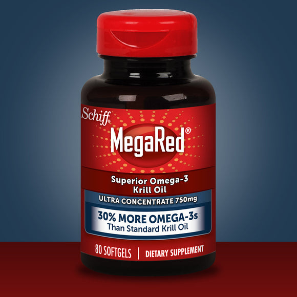 Schiff MegaRed Ultra Concentrate Omega-3 Krill Oil 750 mg., 80 Softgels