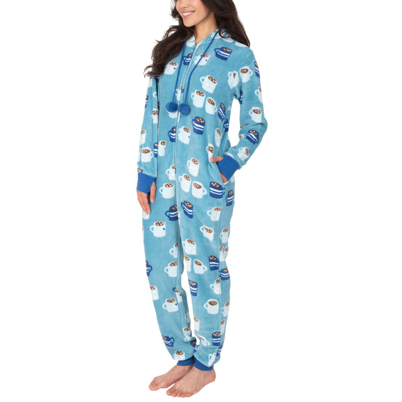 Munki Munki Ladies' Plush One Piece Pajama