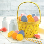 Mrs. Fields Easter Basket with 12 Frosted Egg-Shaped Cookies