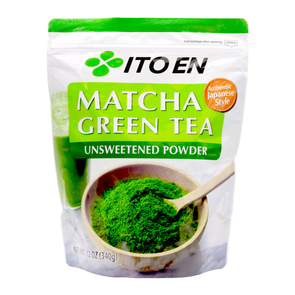 Ito En Matcha Green Tea Unsweetened Powder 12 oz