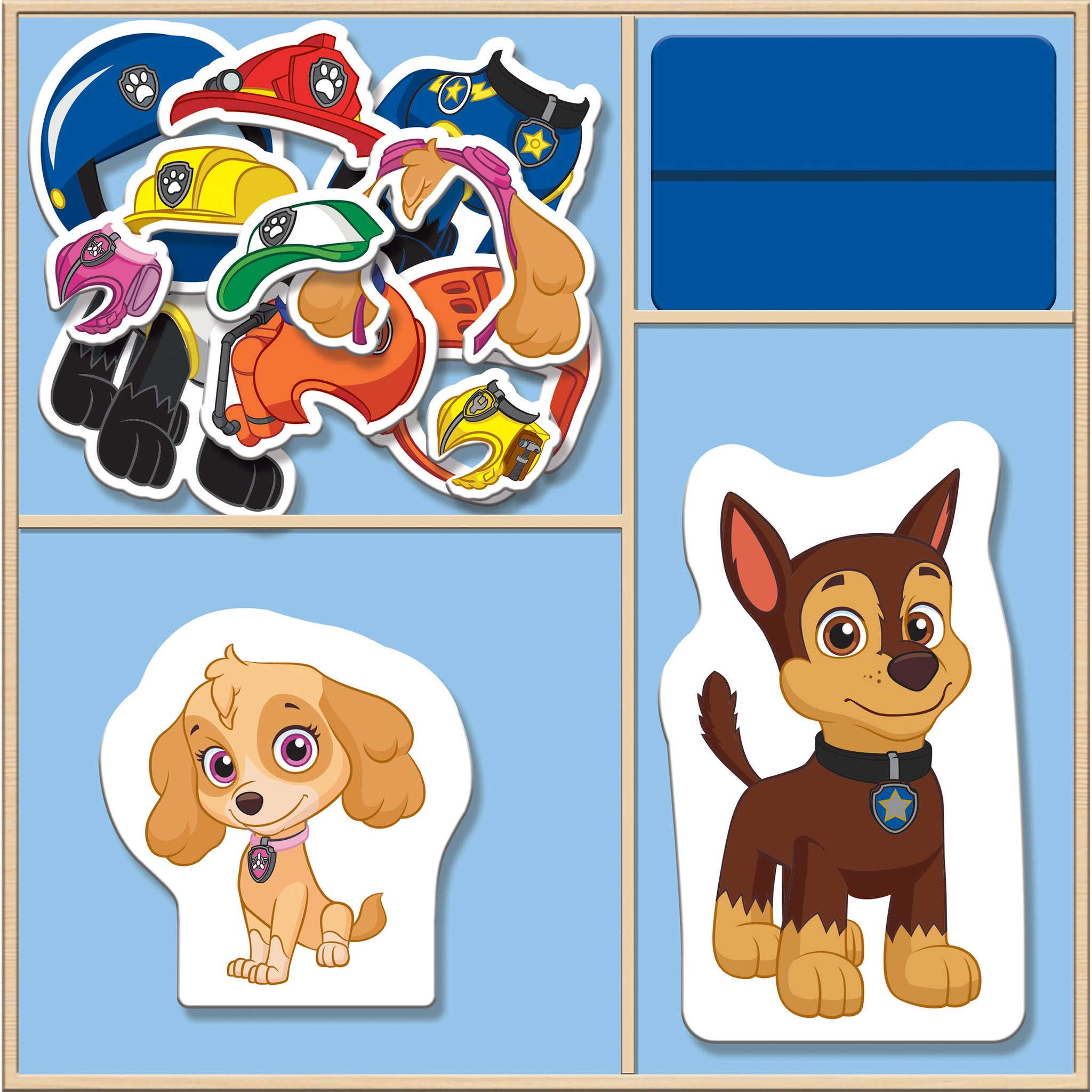 63 Pieces TCG Paw Patrol Wooden 3-in-1 Activity Center