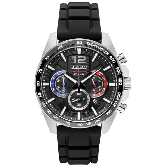Seiko Chronograph Stainless Steel Case Men's Watch