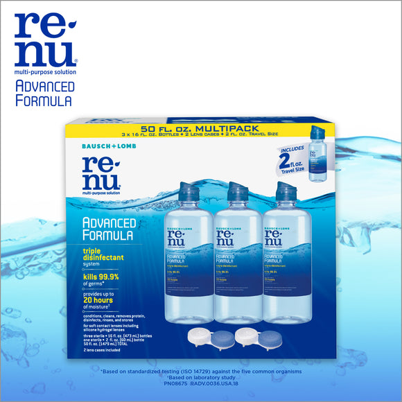 renu Advanced Formula Multi-Purpose Solution, 50 Ounces