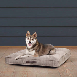 "Kirkland Signature 34"" Square Tufted Dog Bed, Brown"