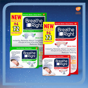 Breathe Right Extra Strength Nasal Strips, 72 Count