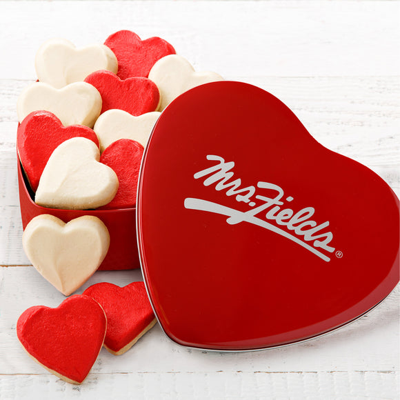 Mrs. Fields 12 Heart Shaped Frosted Cookies