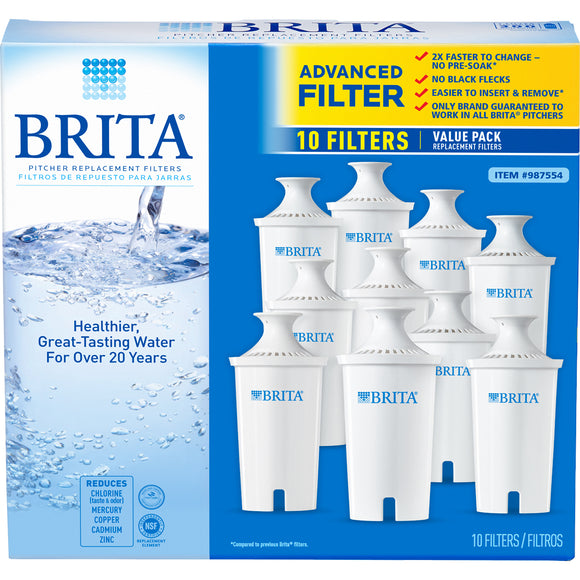 Brita Replacement Filters, 10-pack